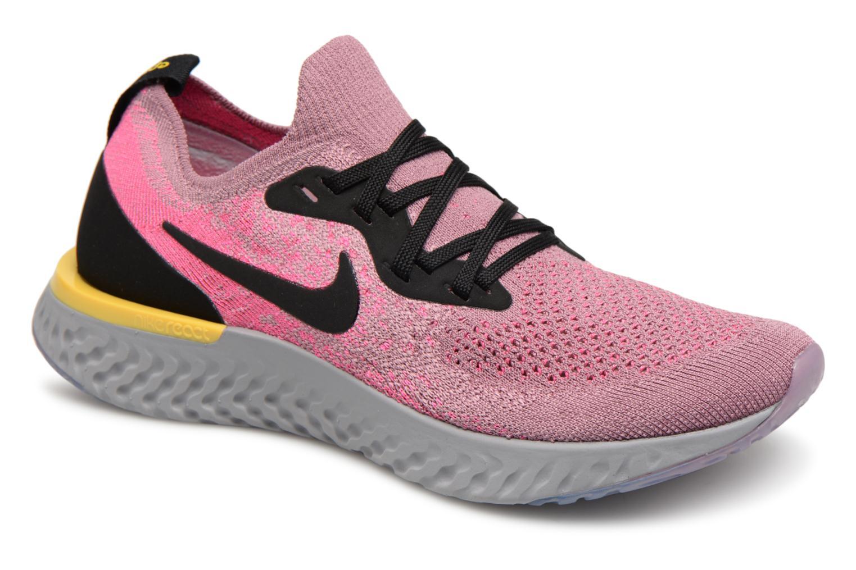 dccb8742645 Chaussures de sport Nike Nike Epic React Flyknit (Gs) Gris vue détail paire