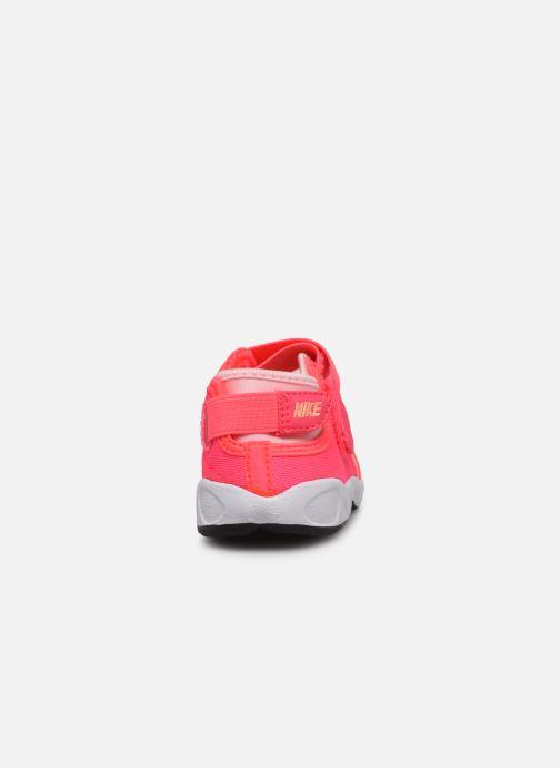 Sandalias Nike Little Rift (Td) Rosa vista lateral derecha