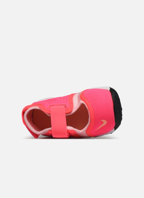 Sandalias Nike Little Rift (Td) Rosa vista lateral izquierda