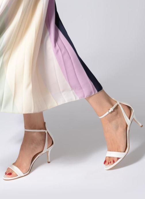 Sandales et nu-pieds Pura Lopez Sandale mariée 2 Blanc vue bas / vue portée sac