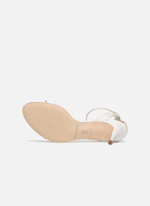 Sandales et nu-pieds Pura Lopez Sandale mariée 2 Blanc vue haut