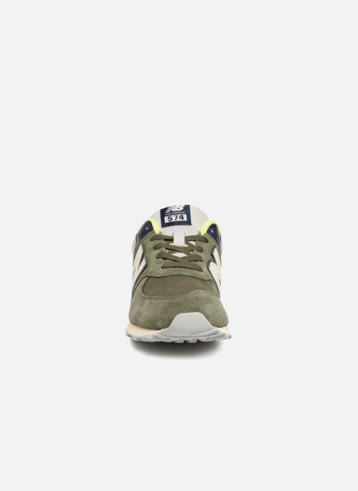 Baskets New Balance GC574 GV Vert vue portées chaussures