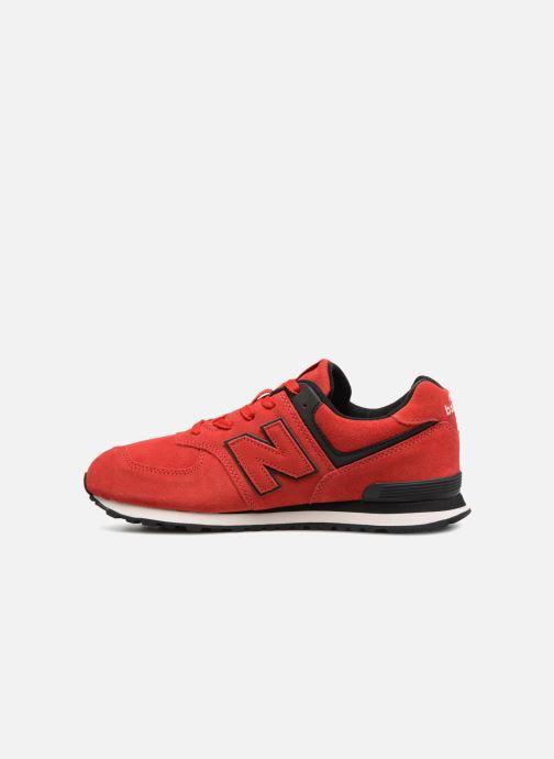 Baskets New Balance GC574 GV Rouge vue face