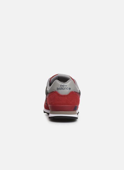 Baskets New Balance GC574 GV Rouge vue droite