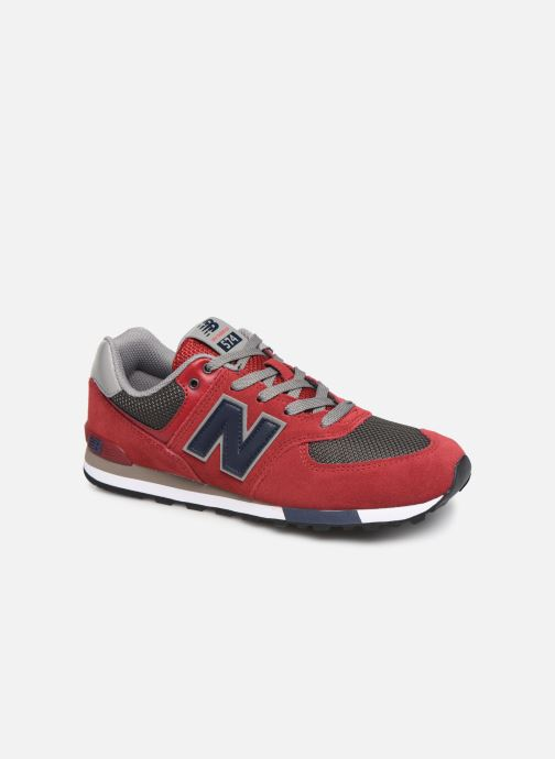 Trainers New Balance GC574 Red detailed view/ Pair view