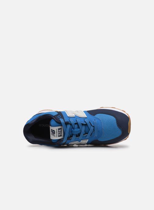 Baskets New Balance GC574 GV Bleu vue gauche