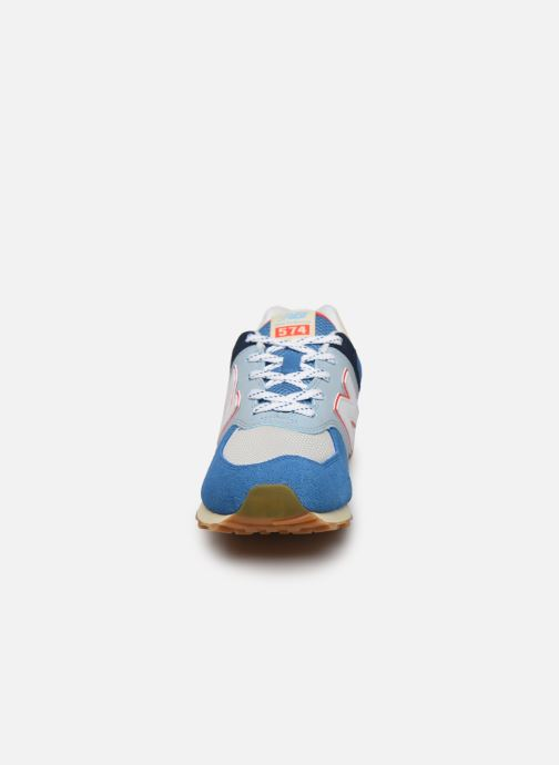 Baskets New Balance GC574 GV Bleu vue portées chaussures