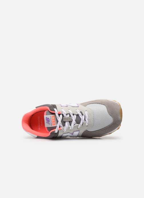 Baskets New Balance GC574 GV Gris vue gauche