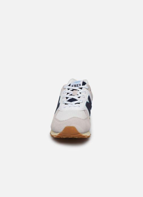 Baskets New Balance GC574 GV Blanc vue portées chaussures