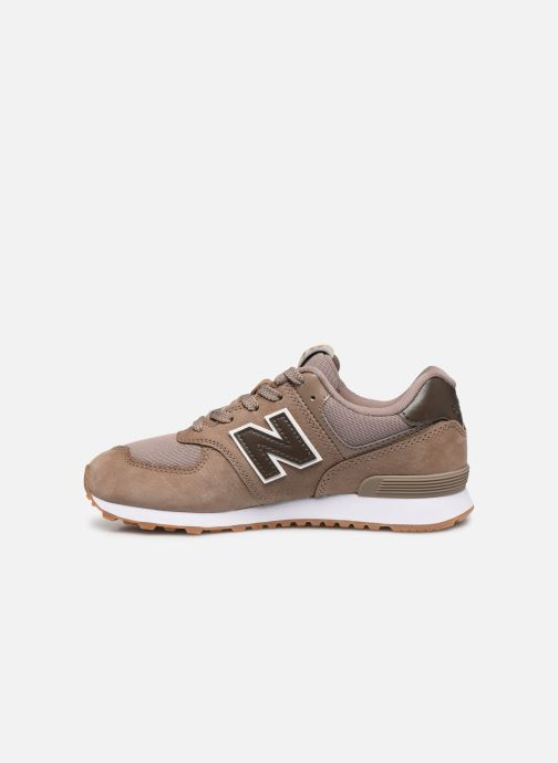 Baskets New Balance GC574 GV Marron vue face