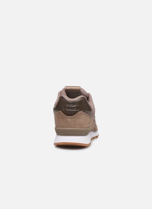 Baskets New Balance GC574 GV Marron vue droite