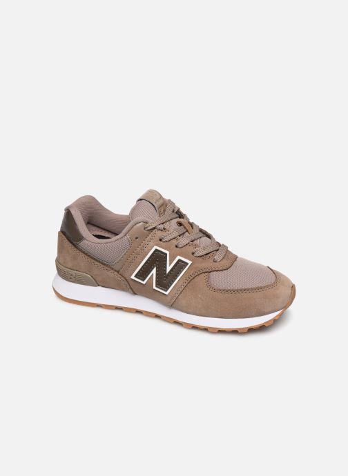 Baskets New Balance GC574 GV Marron vue détail/paire
