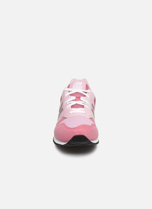 Baskets New Balance GC574 GV Rose vue portées chaussures