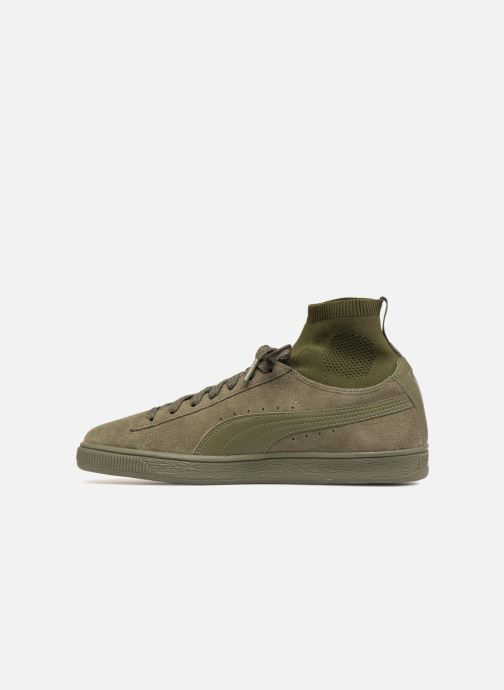 Trainers Puma Suede Classic Sock Green front view