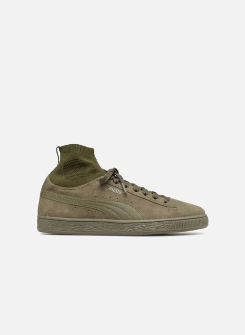 Trainers Puma Suede Classic Sock Green back view
