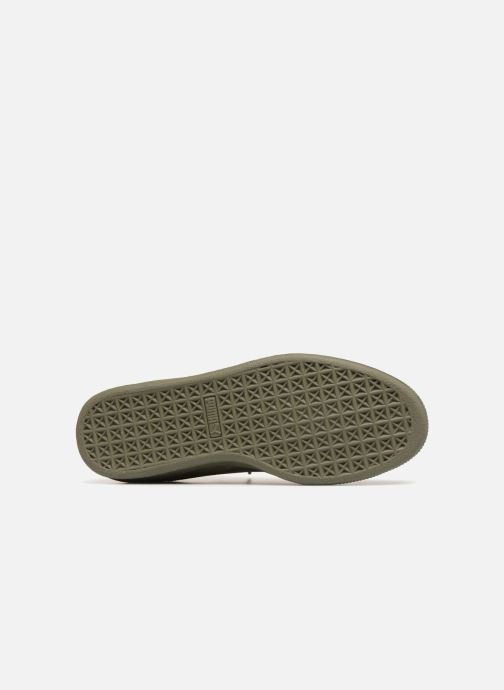 Trainers Puma Suede Classic Sock Green view from above