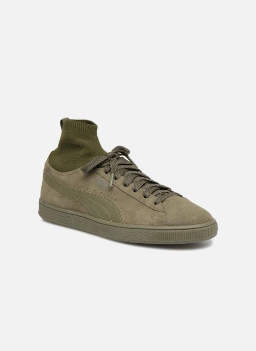 Trainers Puma Suede Classic Sock Green detailed view/ Pair view