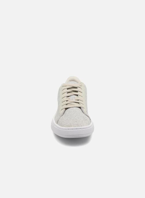 Trainers Puma Basket Classic Knit Grey model view