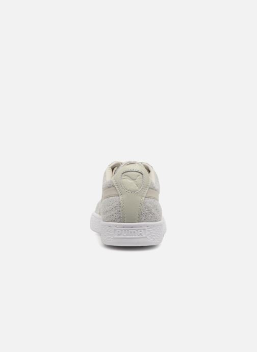 Trainers Puma Basket Classic Knit Grey view from the right