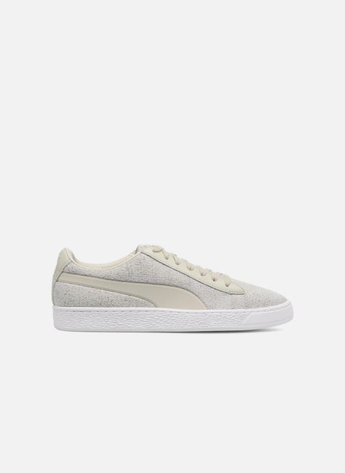 Trainers Puma Basket Classic Knit Grey back view