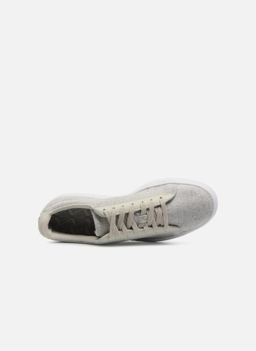 Trainers Puma Basket Classic Knit Grey view from the left