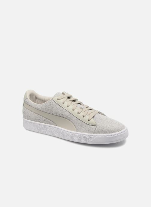 Trainers Puma Basket Classic Knit Grey detailed view/ Pair view