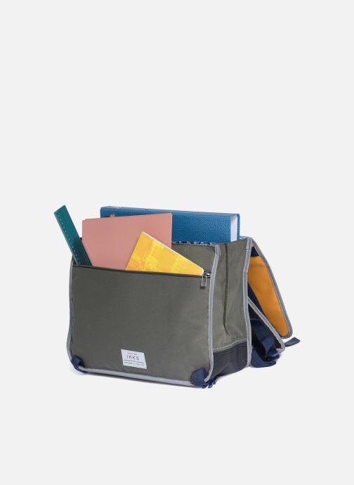 Schooltassen Ikks Cartable 38cm Backpacker in Tokyo Geel achterkant