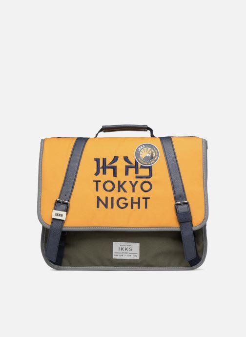 Schooltassen Ikks Cartable 38cm Backpacker in Tokyo Geel detail