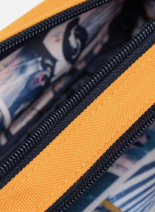 Scolaire IKKS Trousse Double Backpacker in Tokyo Jaune vue derrière