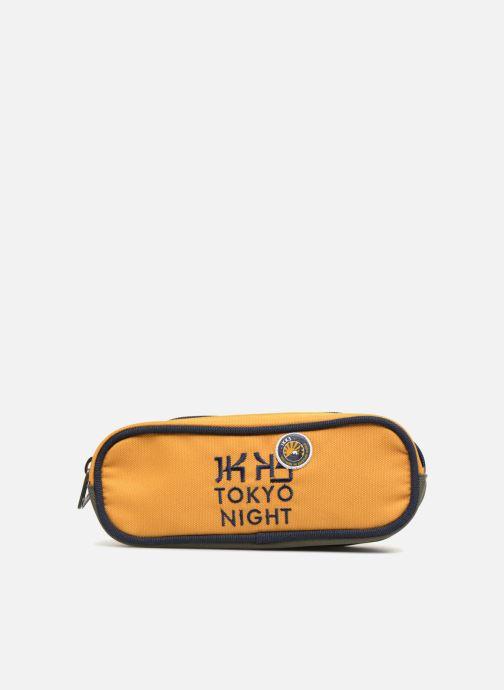 Schulzubehör IKKS Trousse Double Backpacker in Tokyo gelb detaillierte ansicht/modell