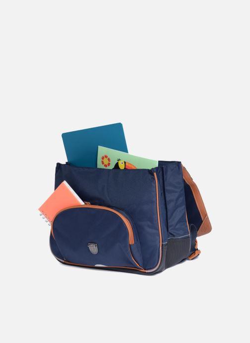 Schooltassen Tann's Cartable 38cm Les Incontournables Blauw achterkant