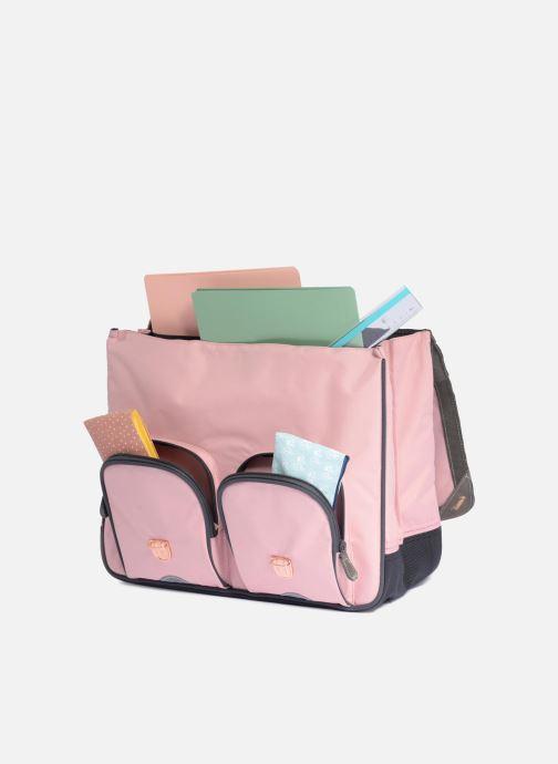 Schooltassen Tann's Cartable41c m Les Chics Fille Roze achterkant