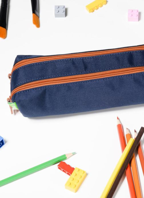 School bags Tann's Trousse Double Les Incontournables Blue view from underneath / model view