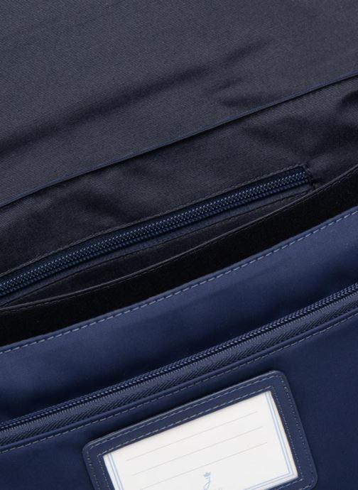 Schooltassen JACADI Cartable 38cm Technik Blauw achterkant