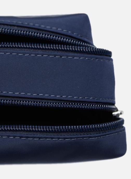 Schooltassen JACADI Trousse Double Epure Blauw achterkant
