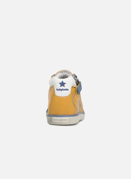 Ankle boots Babybotte Astre Yellow view from the right