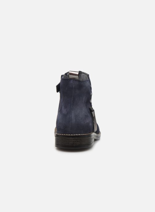 Ankle boots Babybotte Noam Blue view from the right