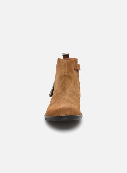Bottines et boots Babybotte Noam Marron vue portées chaussures