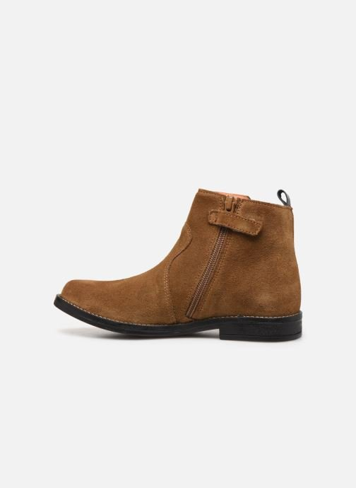 Ankle boots Babybotte Noam Brown front view