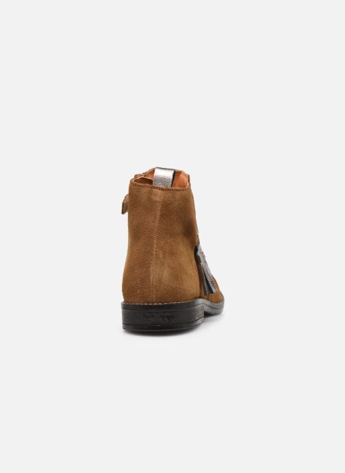 Ankle boots Babybotte Noam Brown view from the right