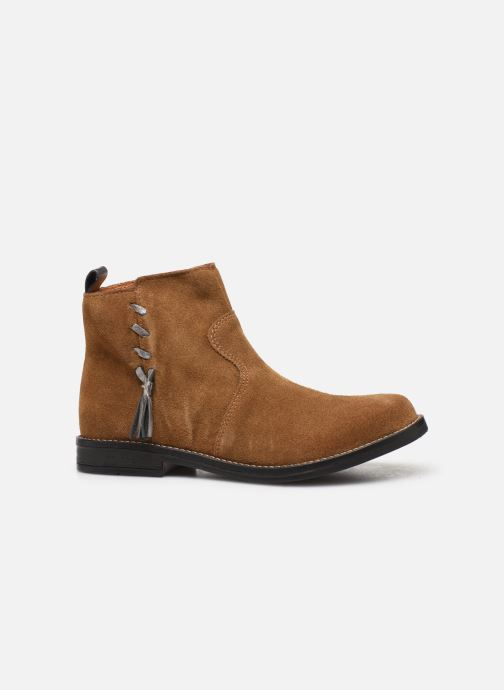 Ankle boots Babybotte Noam Brown back view