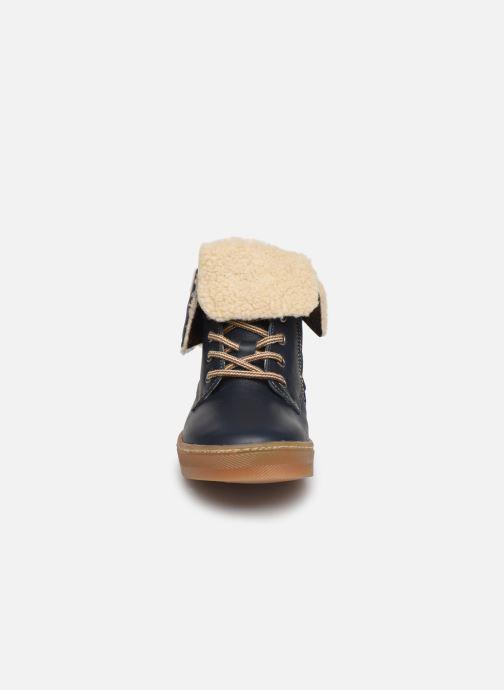 Bottines et boots Babybotte Karasjokfl Bleu vue portées chaussures