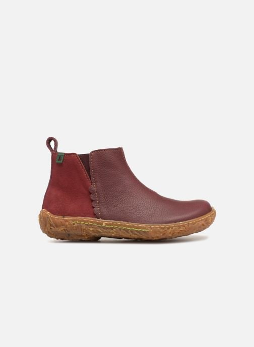 Ankle boots El Naturalista E766 Nido Burgundy back view