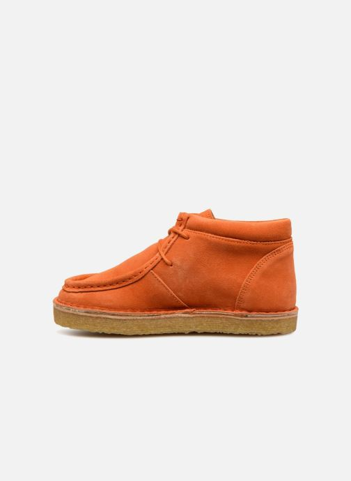Chaussures à lacets Tinycottons TC Suede boot Orange vue face