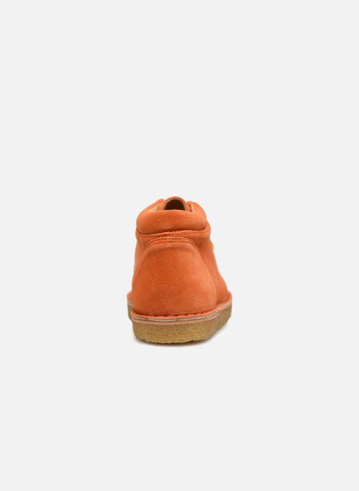 Zapatos con cordones Tinycottons TC Suede boot Naranja vista lateral derecha