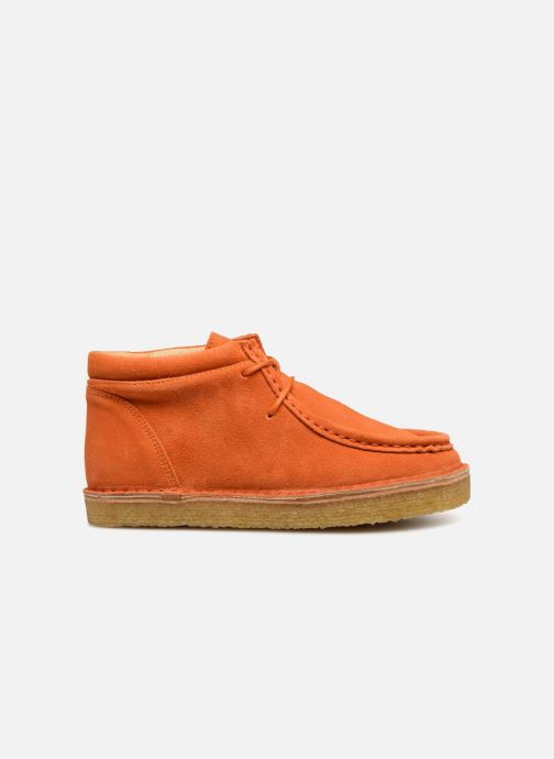 Zapatos con cordones Tinycottons TC Suede boot Naranja vistra trasera