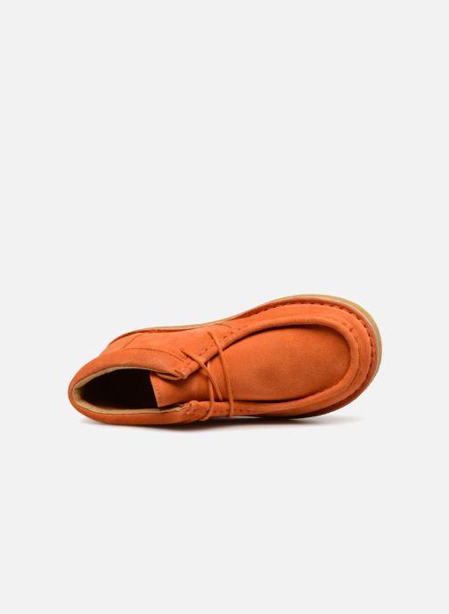 Zapatos con cordones Tinycottons TC Suede boot Naranja vista lateral izquierda