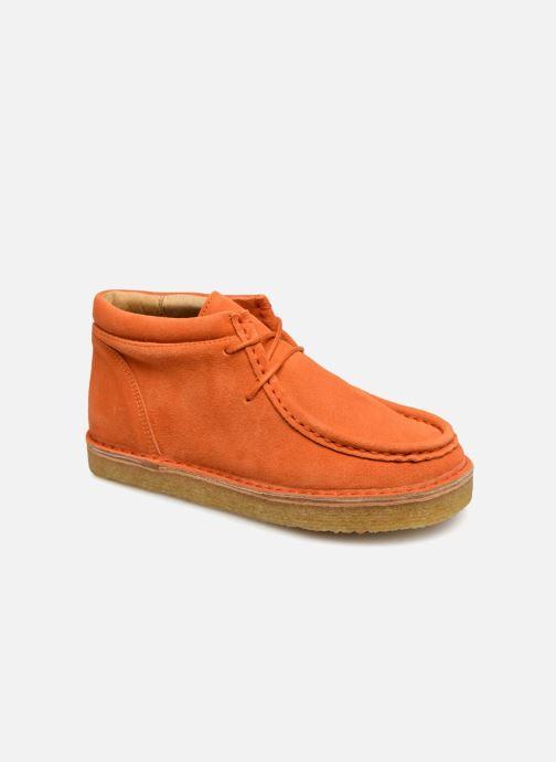 Chaussures à lacets Tinycottons TC Suede boot Orange vue détail/paire