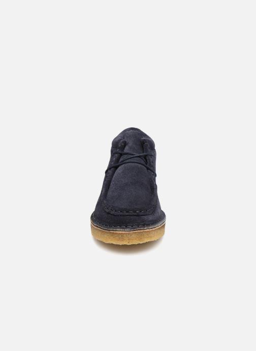 Chaussures à lacets Tinycottons TC Suede boot Bleu vue portées chaussures