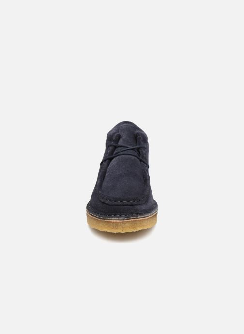 Zapatos con cordones Tinycottons TC Suede boot Azul vista del modelo